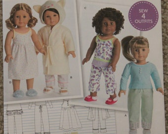 18 inch Doll Clothes Pattern Simplicity DO537 or 8281