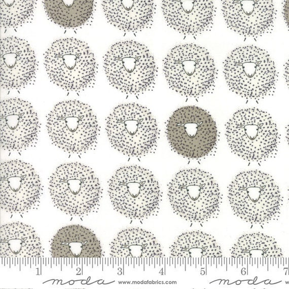 Cloud Sheep from Darling Little Dickens  by Lydia Nelson for Moda - 1/2 Yard