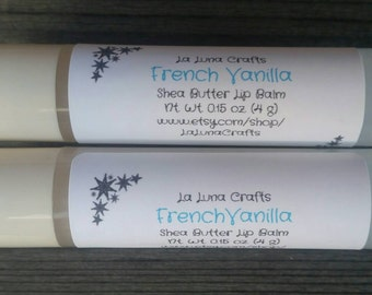 French Vanilla Lip Balm - Shea Butter Lip Balm - Natural Lip Balm