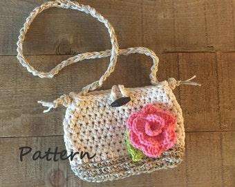 PDF Pattern, Crochet Girls' Spring Purse Pattern, Girls Accessory, Girls Gift Idea, Crochet Purse Pattern, Crochet Bag Pattern, DIY Purse