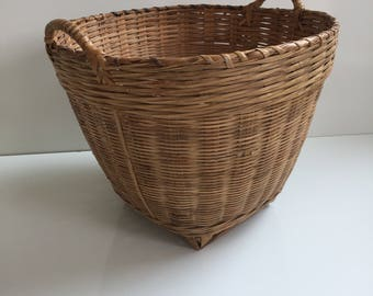 Large Woven Bamboo Basket for Plants