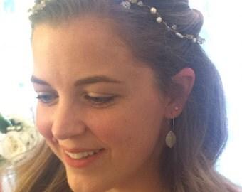 Hair Vine, Headband, Beaded Hair Wreath, Golden Beaded Hair Vine, Beaded Circlet,  Hair Wrap, Bridal Wreath, Bridal Hair  -ARIA Hair vine