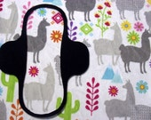 Llamas Minky top Menstrual / incontinence pad, Pampered Shop, You choose size/absorbency