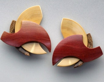 Lathe-turned Wood Earrings