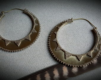 brass earrings *bohemian*