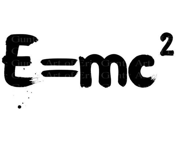 E=mc2 Science Chemistry Birthday - Edible Cake and Cupcake Topper For Birthday's and Parties! - D22014