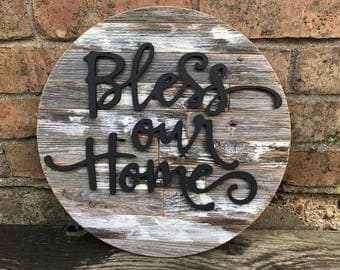 "Bless our Home 14"" round"