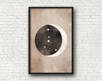 Cancer Constellation, Wall Art Prints, Art Print Poster, Cancer Art, Cancer Zodiac, Zodiac Print, Zodiac Sign