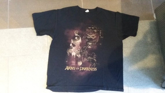 Vintage Army of Darkness Horror Movie T-Shirt XL Rare