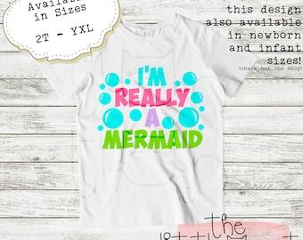 Shirt - TShirt - Mermaids - Clothing - Mermaid - Mermaid Birthday - Mermaid Shirt - Mermaid Top - Mermaid TShirt - Mermaid Tee - Girls