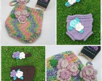 Floral nappy cover **Made to Order**  wool nappy soaker, wool cloth nappy wrap, cloth diaper, pure wool nappy cover, flower nappy cover set