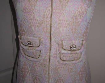 Vintage Windsmoore London Crimplene Go Go Day Dress M
