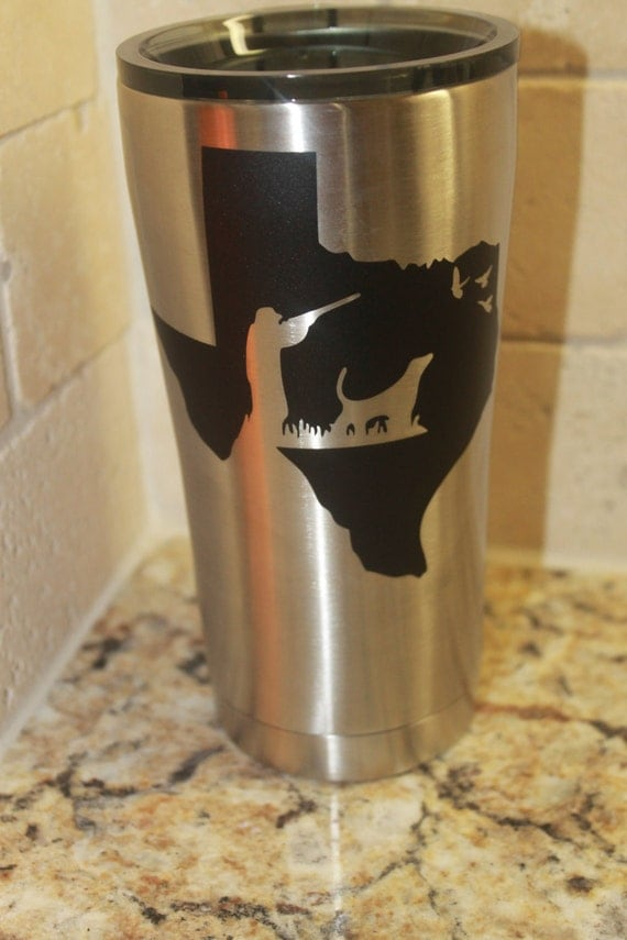 Yeti tumbler decal, Texas Decals, hunter, duck, fishing, yeti decals, decals for men, guns, deer, elk, decals for women, Texas Decals