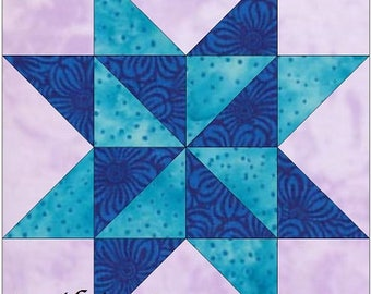 Sarah's Choice Chain Star 10 Inch Paper Piece Foundation Quilting Block Pattern PDF