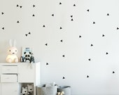 Triangle Decal - Choose Your Color, Little Peaks Decals, Mountains Stickers, Geometric Pattern Wall Decal.