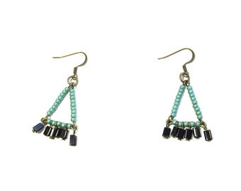 Sealstone Beaded Earrings