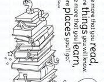 Your Next Stamp Clear Stamps - Bookworms Rule