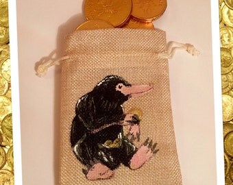 Niffler coin pouch fantastic beasts inspired