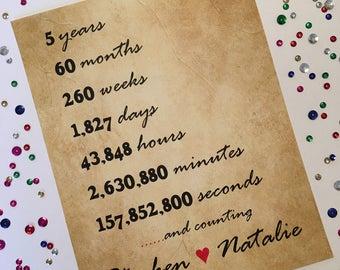 5 year wedding anniversary message to husband