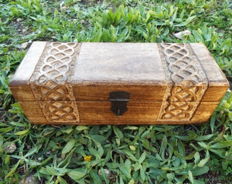 Box Wooden Celtic Knot Mango Tree Jewelry Handmade Symbol Carved Eco Friendly Home Decor Trinket