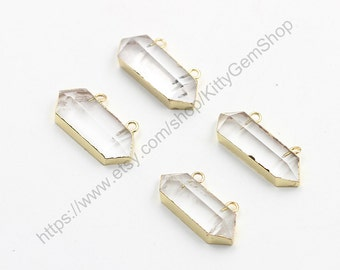 Clear Quartz Pendants -- Wholesale  gemstone charm finding accessory wedding party jewelry YHA-139