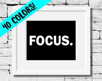 Focus Quote, Focus Print, Motivational Print, Workout Quote, Motivational Quote, Focus Quotes, Motivational Wall Art, Exercise Prints, Focus