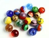 20 Vintage Marbles