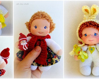 Waldorf doll Fabric doll Small doll Unique doll Handmade doll Soft doll Cloth doll Organic doll For girls Baby doll Rag doll
