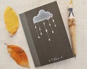 """Exercise book """"Cloud"""" hand painted, unique piece"""