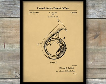 Patent Poster, Sousaphone, Music Room Decor, Tuba, Marching Band, Band Director, Gifts for Musicians, P467