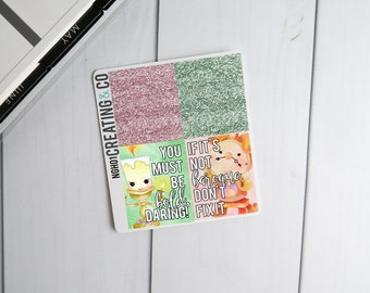 Faux Glitter Header Planner Stickers for a Variety of Planners to match Tale as Old as Time - NGH01