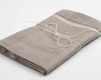 Linen kitchen towel, linen towel, pure linen towel, gray towel, rustic linen towel, flax towel, eco friendly towel, flax kitchen towel