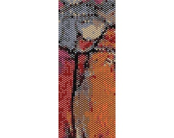 Abstract 33 Peyote Cuff Beaded Bracelet Pattern