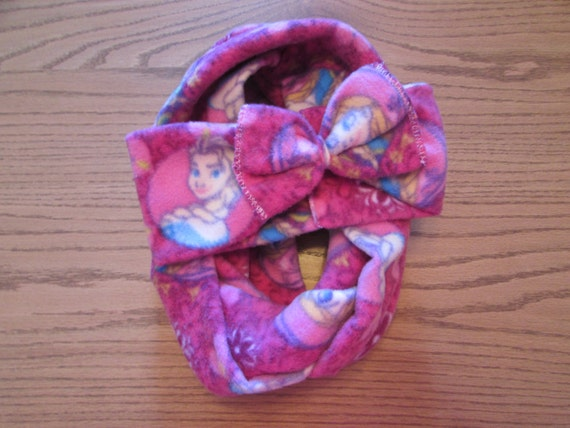Frozen fleece headband/Frozen headband/Frozen fleece bow headband/fleece infinity scarf/girls fleece headband/girls frozen infinity scarf