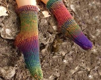 Hand Knitted Australia Merino Socks Cozy Warm Luxury Material Unique Feeling Earth shades