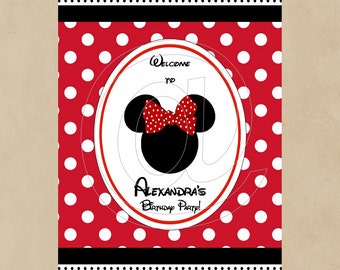 PRINTABLE Door Sign - Minnie Inspired Red