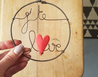 "Mini bubble decorative ""I you love"" wire"