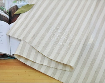 Laminated Linen Fabric 1 cm Stripe By The Yard