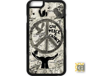 Galaxy S8 Case, S8 Plus Case, Galaxy S7 Case, Galaxy S7 Edge Case, Galaxy Note 5 Case, Galaxy S6 Case- Give Peace Black & White