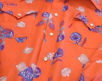 VINTAGE Pearl Snap Western Long Sleeve Shirt by H Bar C