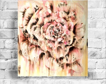 Pink Flower oil painting