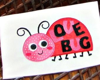 Lady Bug Applique design Embroidery