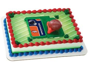 Denver Broncos Cake Kit Cake Toppers  Decorations