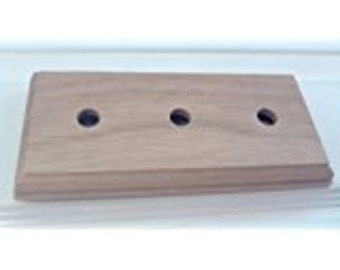3  Gang Solid Oak Pattress For Mounting Dolly And Toggle Switches