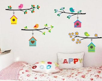 Branch with Bird Houses - AW7226a