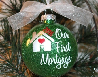New Home Ornament, First Home Christmas Ornament, Glass Ornament Gift