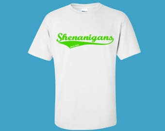St Patrick's Day shirt for Kids.  Shenanigans Shirt for Kids.  Personalized St Patrick's Day shirt. Saint Patrick's Day Shirt.