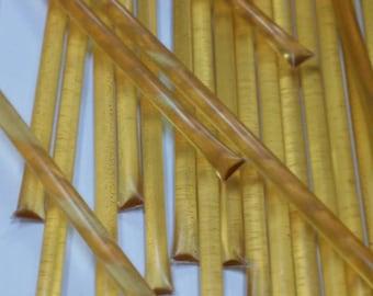 100 Orange honey sticks, all natural snack, party favors, elegant tea