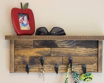 Rustic Key Holder Shelf, Key Holder,