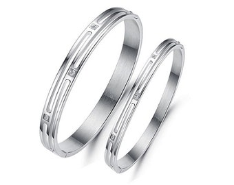 We Fit Like Jigsaw Pieces - Couples Bracelets / His and Hers Bracelets / Engraved Bracelets for Her / Matching Jewelry for Couples
